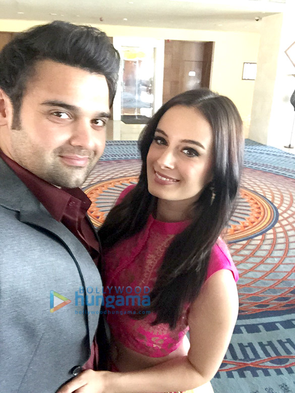 Mahaakshay Chakraborty and Evelyn Sharma promote 'Ishqedarriyaan' in Raipur