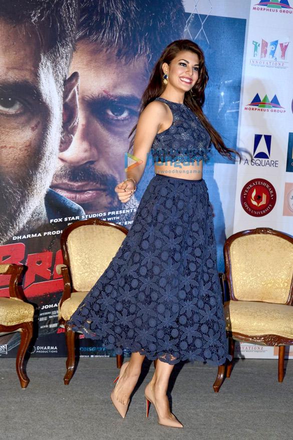 Jacqueline Fernandez celebrates her birthday in Delhi at the 'Brothers' media meet