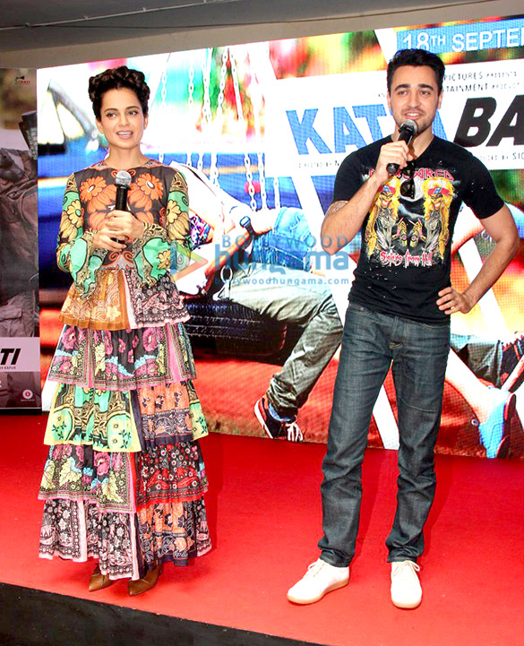 Imran Khan & Kangna Ranaut promote 'Katti Batti' at MMK College