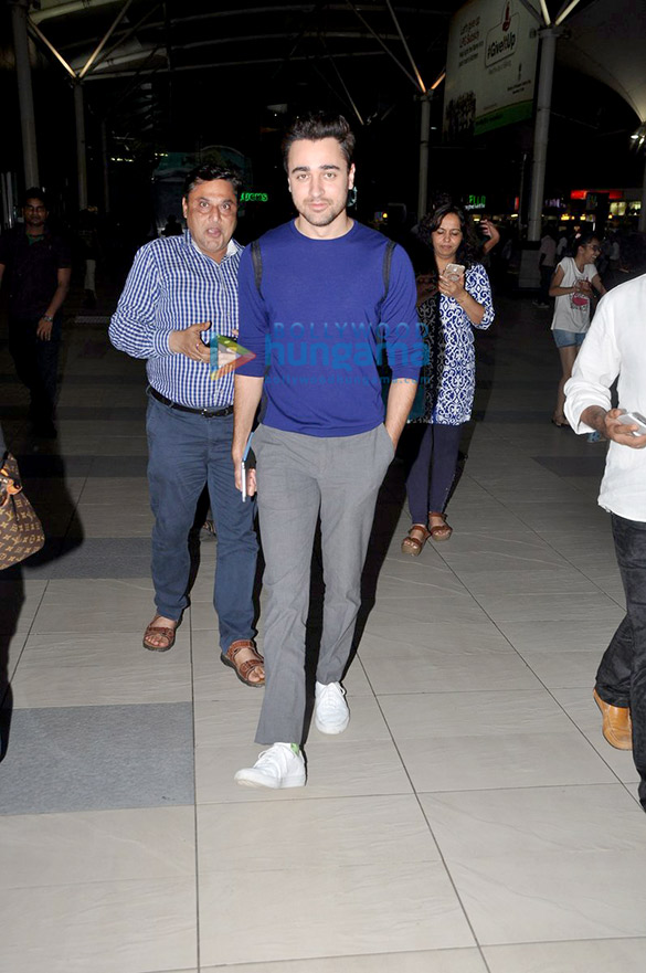 Imran Khan & Kangna Ranaut return from Delhi after 'Katti Batti' promotions
