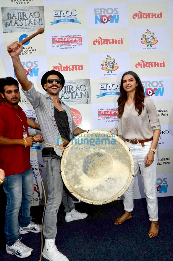 Ranveer Singh & Deepika Padukone unveil the 'Gajanana' song from Bajirao Mastani