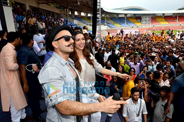 Ranveer Singh & Deepika Padukone unveil the 'Gajanana' song from Bajirao Mastani