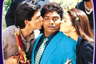 Movie Still From The Film Phir Bhi Dil Hai Hindustani Featuring Shahrukh Khan,Johny Lever,Juhi Chawla