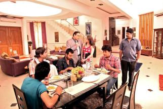 Movie Still From The Film Jeena Hai Toh Thok Daal,Rahul Kumar,Yashpal Sharma,Manish Vatsalya,Govind Namdev,Hazel,Ravi Kissen,Ganesh Yadav