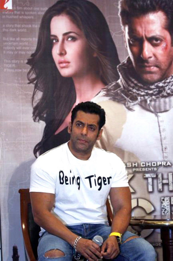 Salman Khan promotes 'Ek Tha Tiger' in New Delhi