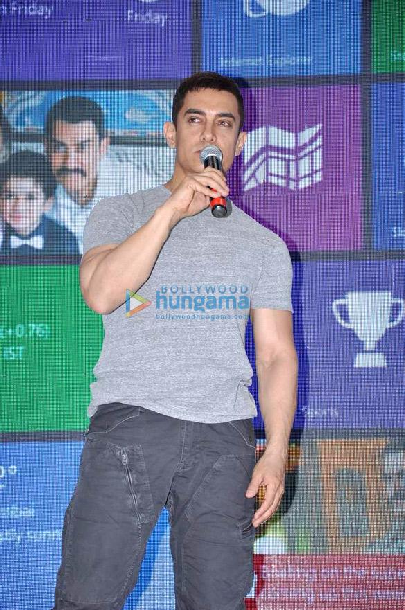 Aamir Khan at 'Talaash – Windows 8' press conference