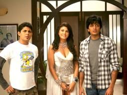 Movie Still From The Film Jaane Kahan Se Aayi Hai,Vishal Malhotra,Jacqueline Fernandez,Ritesh Deshmukh