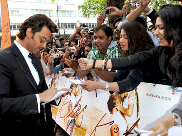 Hrithik Roshan attends the European premiere of 'Kites' at Odeon West End in London