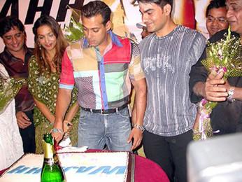 Photo Of Anand Raj Anand,Malaika Arora,Salman Khan,Arbaaz Khan From The Audio Launch Of Wajahh