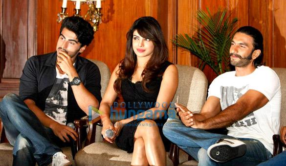 Priyanka, Arjun, Ranveer at the press conference of 'Gunday' in Kolkata