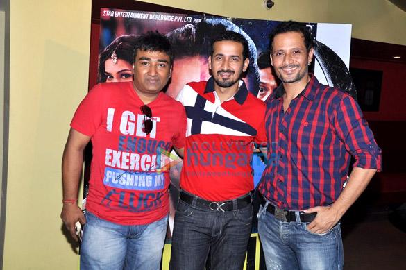 Priya Dutt & Kumar Gaurav at the first look launch of 'Policegiri'