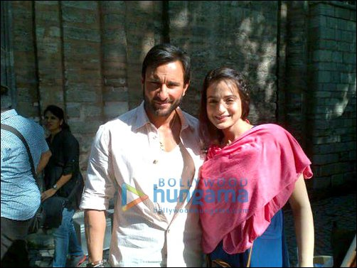 Anil, Saif, Ameesha on sets of Race 2