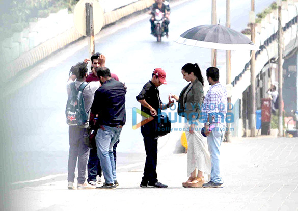 Aditya Roy Kapur & Shraddha Kapoor snapped shooting for 'Ok Jaanu' at Marine Drive