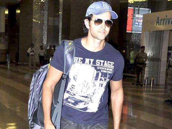 Hrithik Roshan returns from Arjun Rampal's birthday bash in Delhi