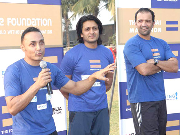 Riteish Deshmukh with Rahul Bose at 'The Foundation' event