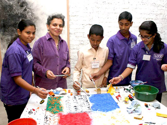 Raell Padamsee's art event for underprivileged children