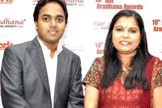 Photo Of Vishal Sharma,Sadhana Sargam From The 18th Sur Aradhana Awards held at Shri Fort Auditorium