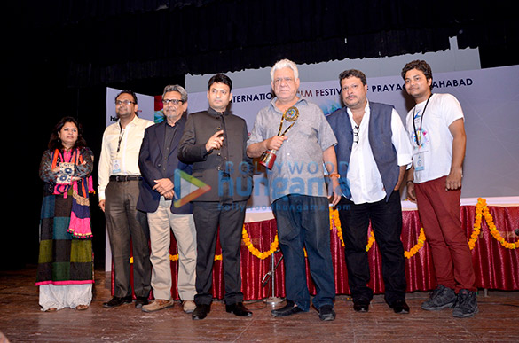 Om Puri awarded with the Lifetime Achievement Award at IFFP 2015
