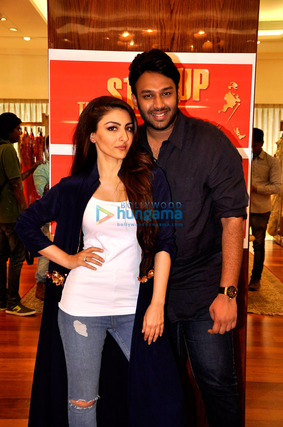 Soha Ali Khan and Nikhil Thampi at Johnnie Walker's 'The Step Up' event