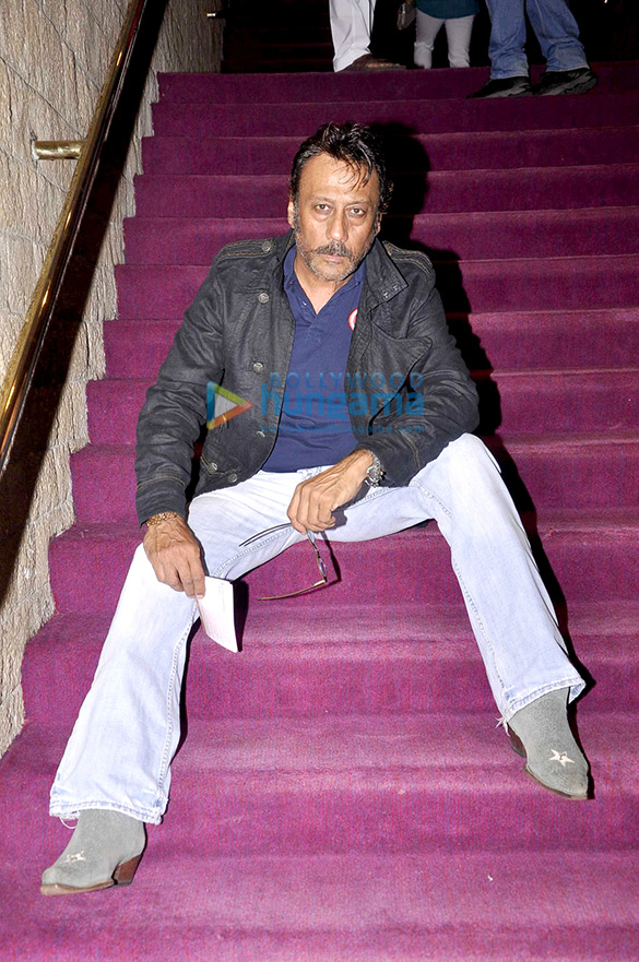 Jackie Shroff, Evelyn Sharma & Diana Haydon watch a play at NCPA