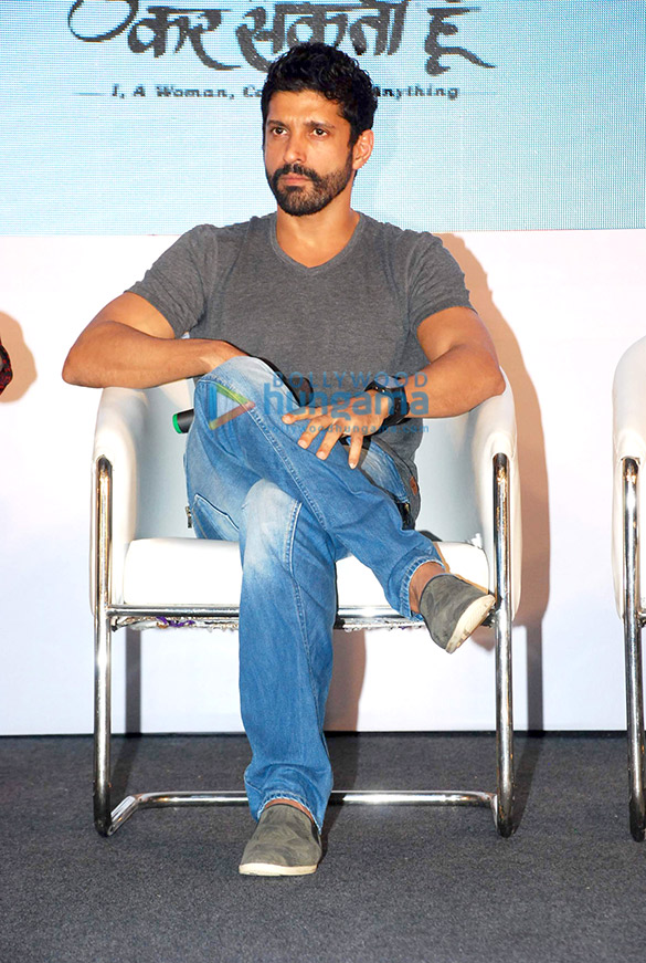 Farhan Akhtar at the launch of tele series 'Main Kuch Bhi Kar Sakti Hoon'