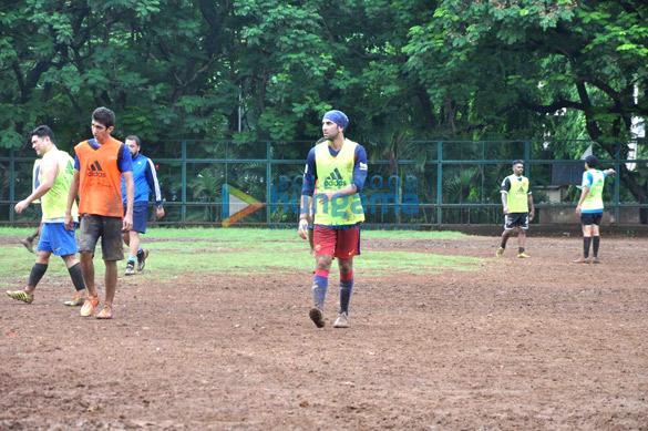 Ranbir Kapoor snapped playing Football