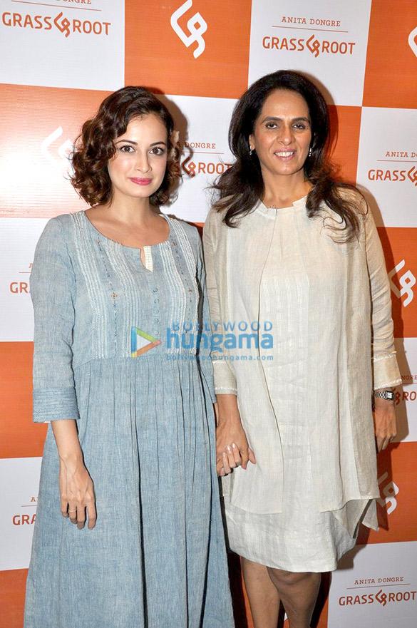 Dia Mirza, Raveena Tandon, Diana Penty & Swara Bhaskar at Grass & Root new designs launch