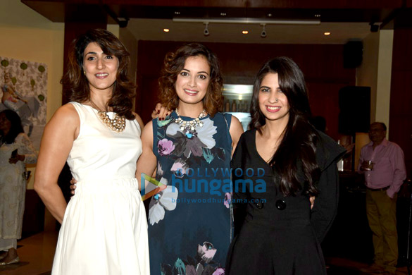 Dia Mirza, VJ Ramona Arena & others at an art exhibition
