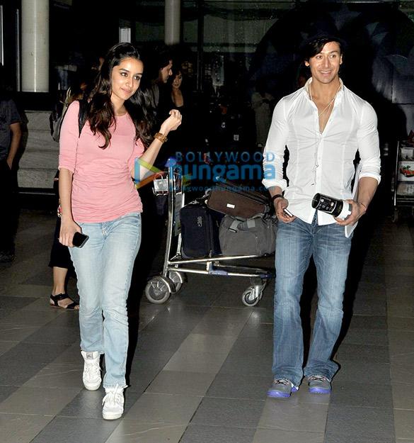 Katrina Kaif, Tiger Shroff & Shraddha Kapoor snapped at the domestic airport