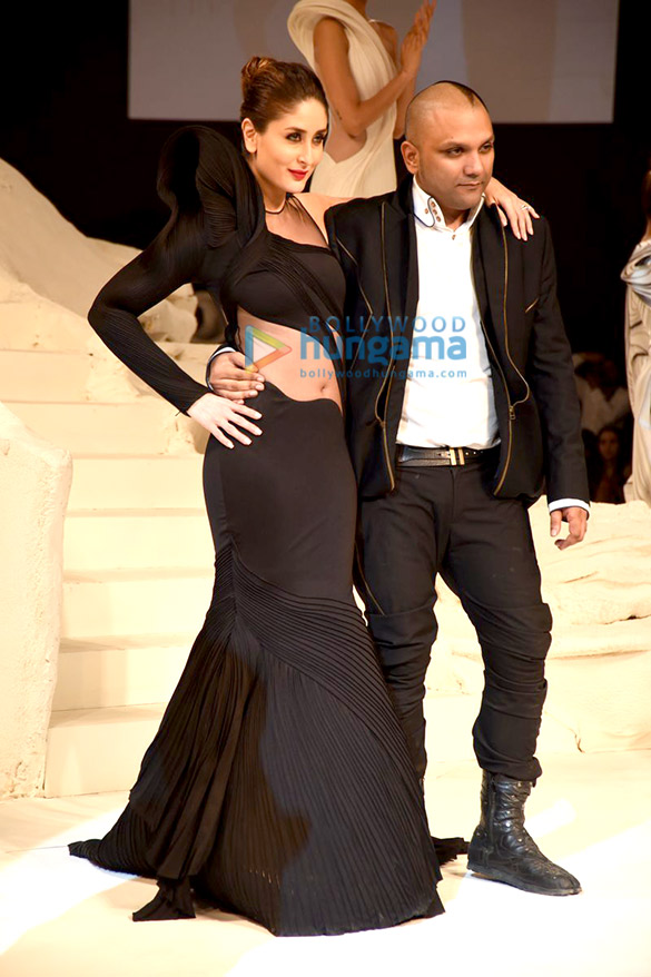 Kareena Kapoor Khan walks the ramp for Gaurav Gupta at the Lakme Fashion Week 2015