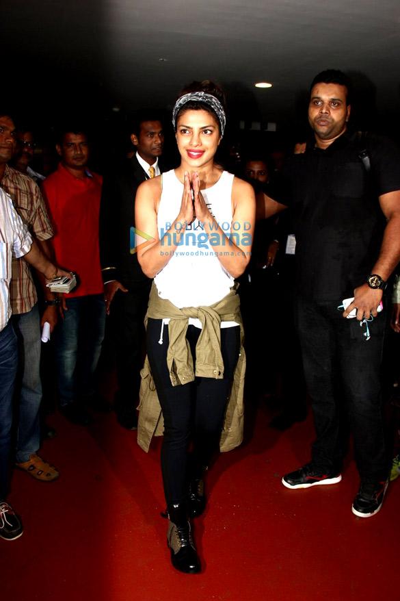 Priyanka Chopra returns after shooting for Quantico in LA
