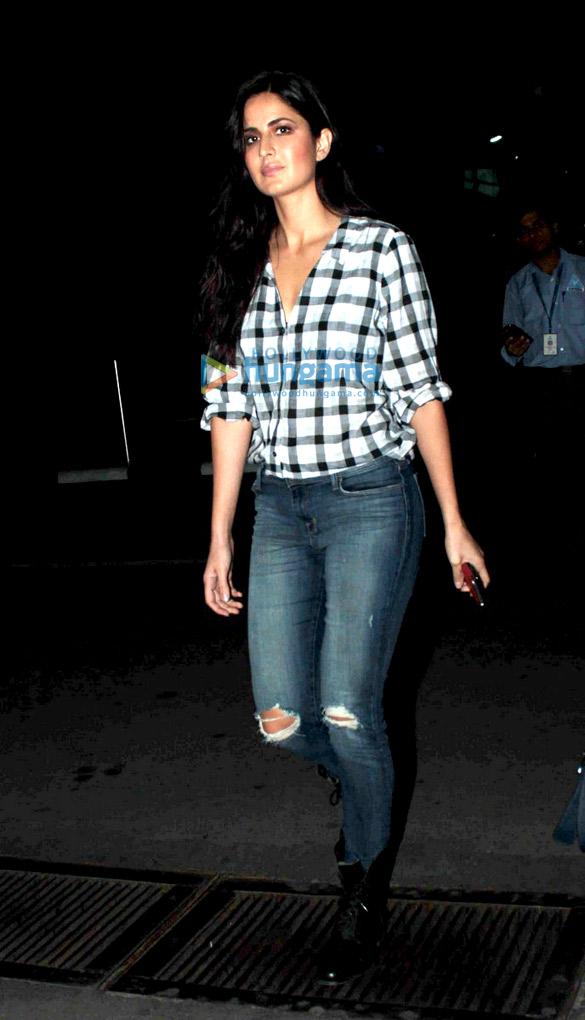 Katrina Kaif snapped at the domestic airport returning from Goa