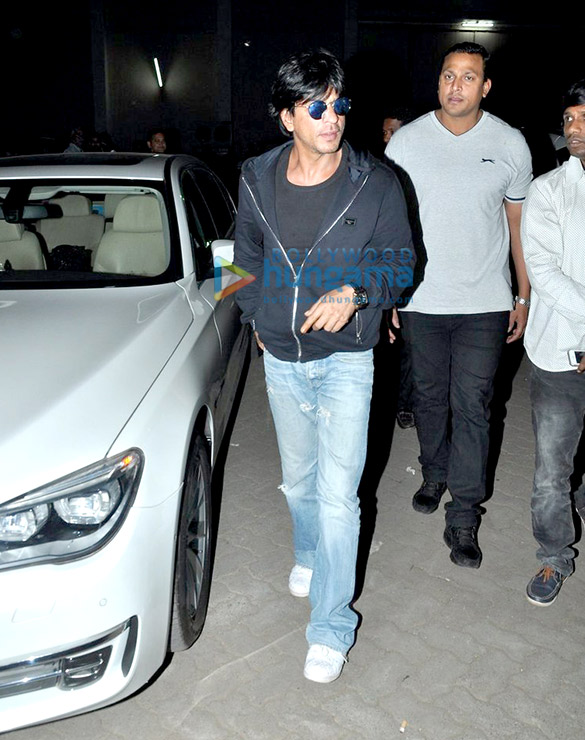 Shah Rukh Khan, Varun Dhawan and Rohit Shetty snapped at 'Dilwale' promotions