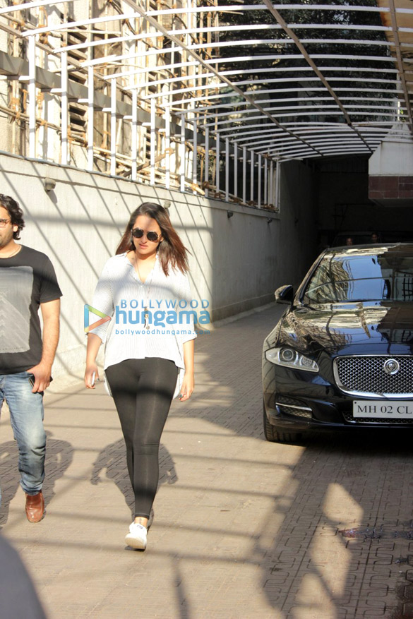 Sonakshi Sinha snapped post a meeting at the Dharma office