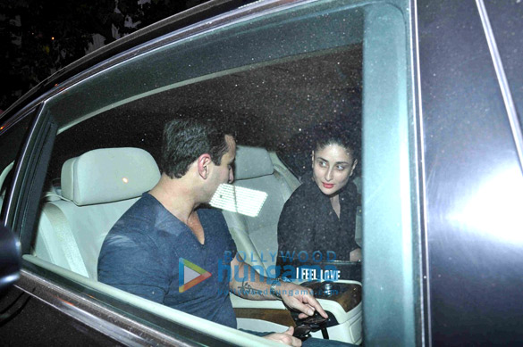 Saif Ali Khan, Kareena Kapoor Khan & Dia Mirza snapped post dinner at Olive