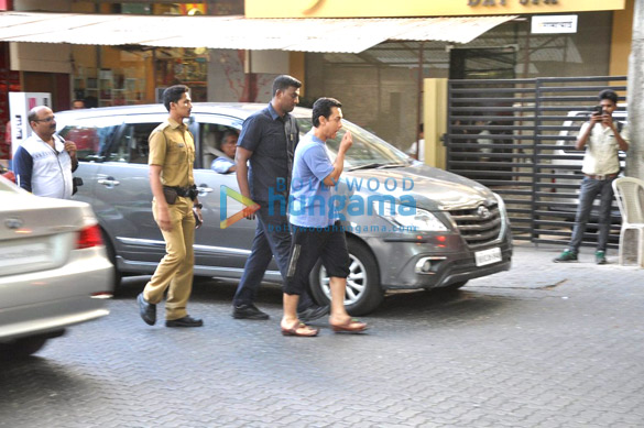 Aamir Khan snapped post a spa session in Bandra