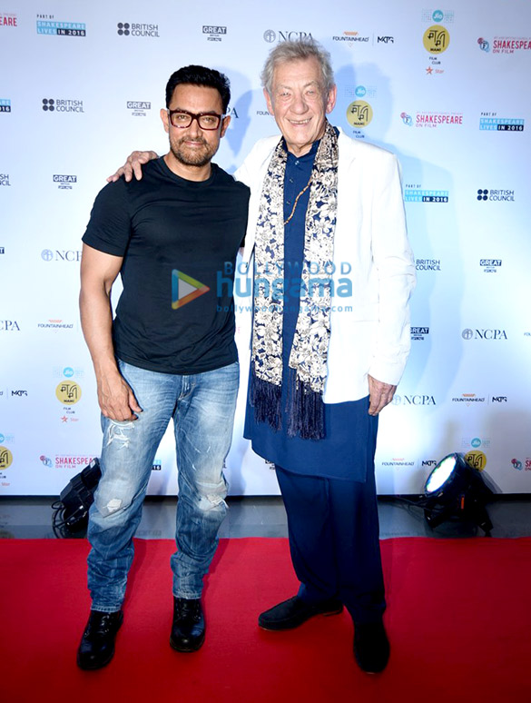 Aamir Khan's conversation with Sir Ian McKellen