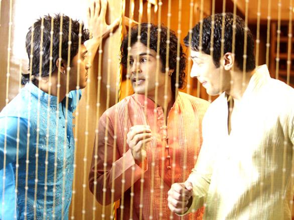 Movie Still From The Film Will You Marry Me?,Shreyas Talpade,Rajeev Khandelwal,Muzammil Ibrahim