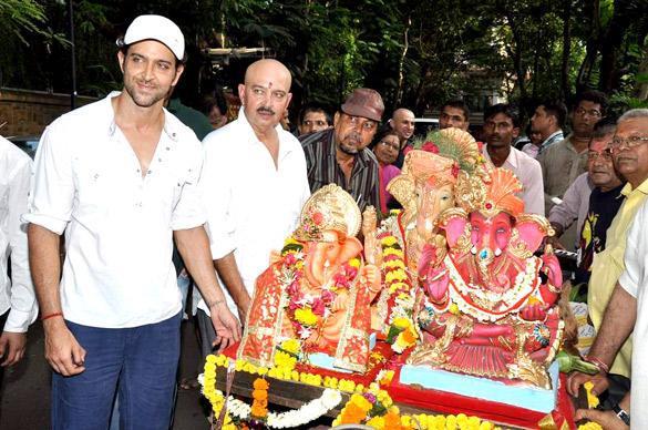 Hrithik Roshan's Ganpati visarjan