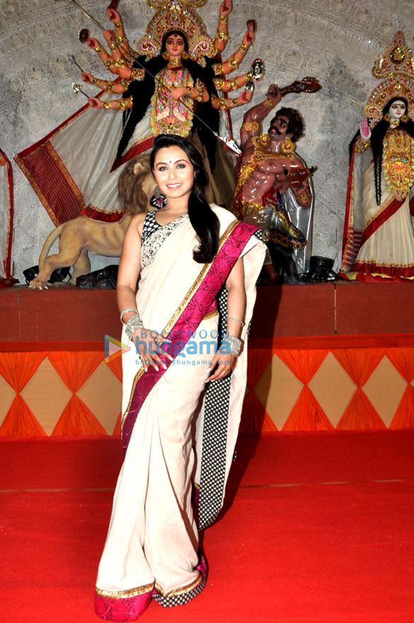 Rani Mukerji at Durga pooja celebrations in Juhu