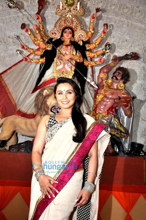 Rani Mukerji at Durga pooja celebrations in Juhu