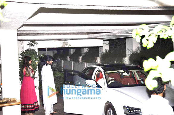 Bachchans visit Sonali Bendre's house for Karwa Chauth