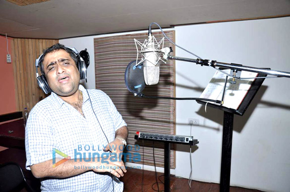 Kunal Ganjawala snapped at a song recording