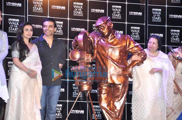 Unveiling of Yash Chopra's statue at UTVSTARS' Walk Of The Stars