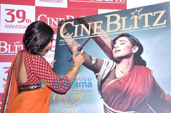 Vidya Balan launches Cine Blitz 39th anniversary issue