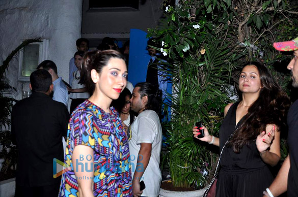 Karisma, Evelyn and others snapped outside Olive