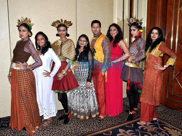 Leading models at SNDT's 'Chrysallis' fashion show