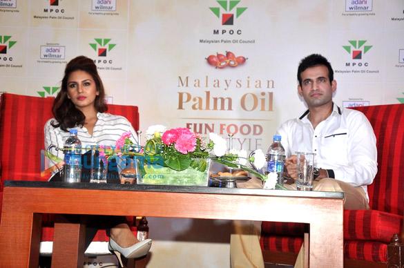 Huma Qureshi & Irfan Pathan at Malaysian Palm Oil launch