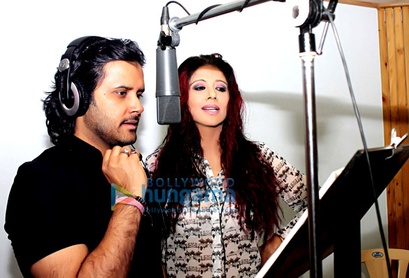 Tinaa Ghaai & Javed Ali record the title song for the film 'Ek Baar Phir Kaho'