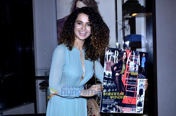 Kangna Ranaut at the launch of Grazia magazine's latest issue